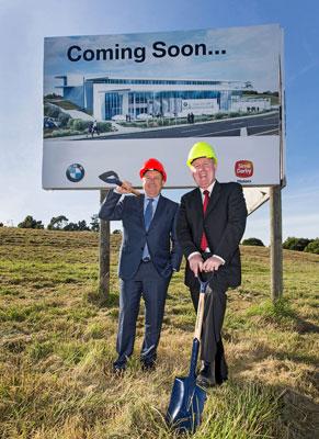 Hendrik von Kuenheim and Patrick McKenna, at the new dealership location.