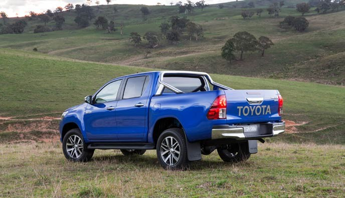 Hilux-Reveal-SR5-Limited-with-Sports-Bar-Accessory,-Back-Left-Angle