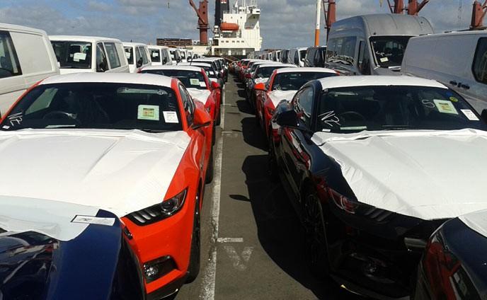 Mustangs-on-AKL-wharf